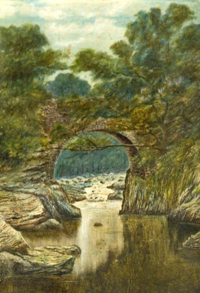 Queen Mary's Bridge over The Penkiln Burn – artist unknown